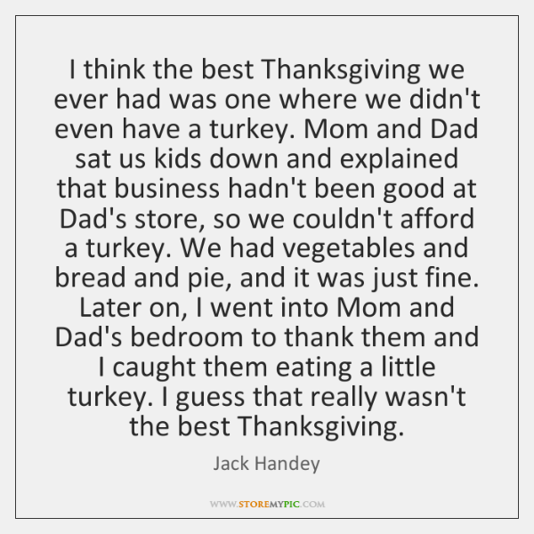 Image result for jack handey thanksgiving