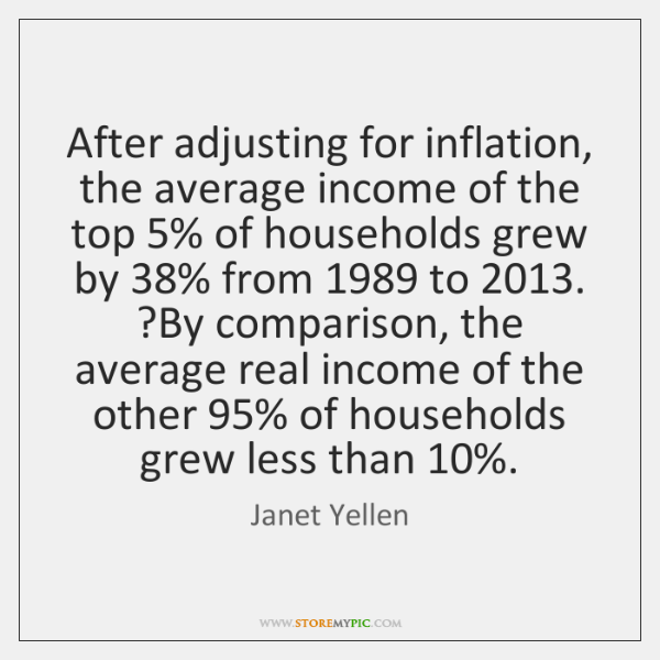 After adjusting for inflation, the average income of the top 5% of households ...