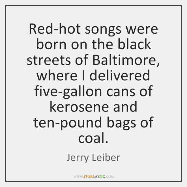 Red-hot songs were born on the black streets of Baltimore, where I ...