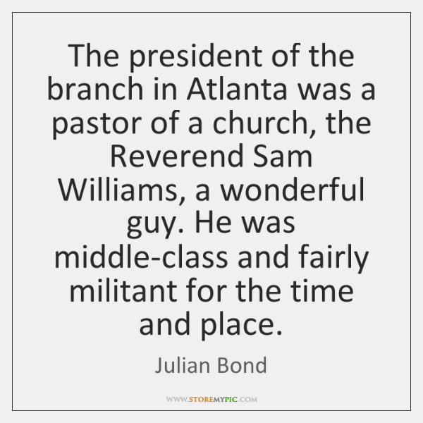 The president of the branch in Atlanta was a pastor of a ...