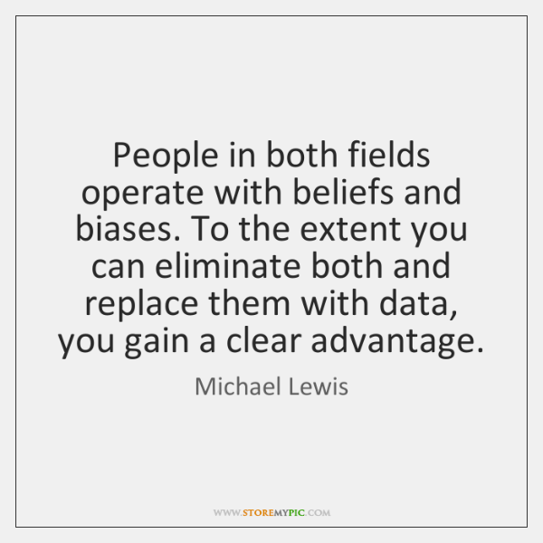 People in both fields operate with beliefs and biases. To the extent ...