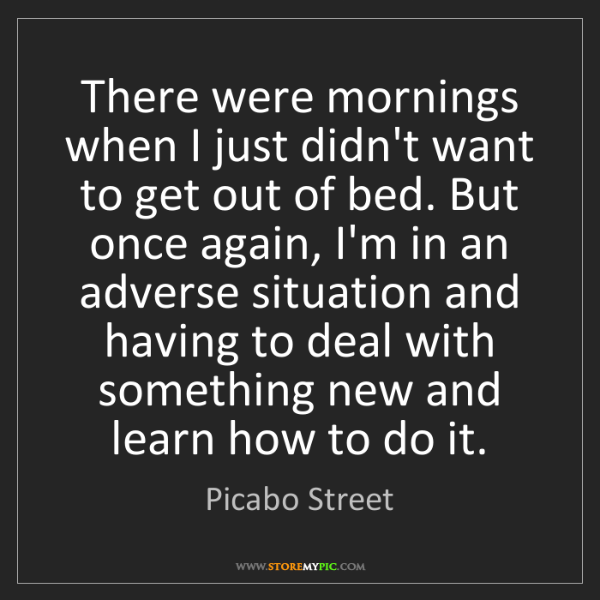 Picabo Street: There were mornings when I just didn't want to get out...