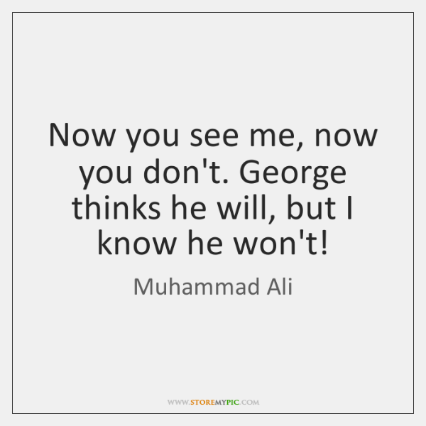 Now You See Me Quotes Enchanting Muhammad Ali Quotes  Storemypic