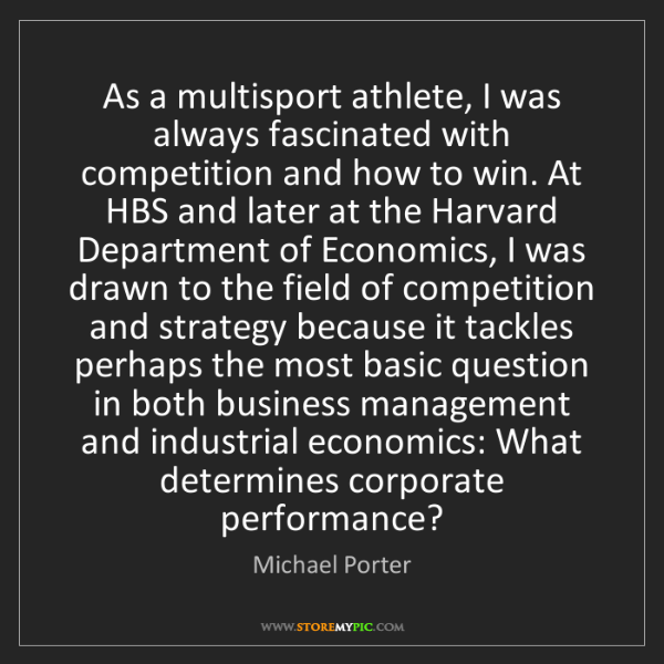 Michael Porter: As a multisport athlete, I was always fascinated with...