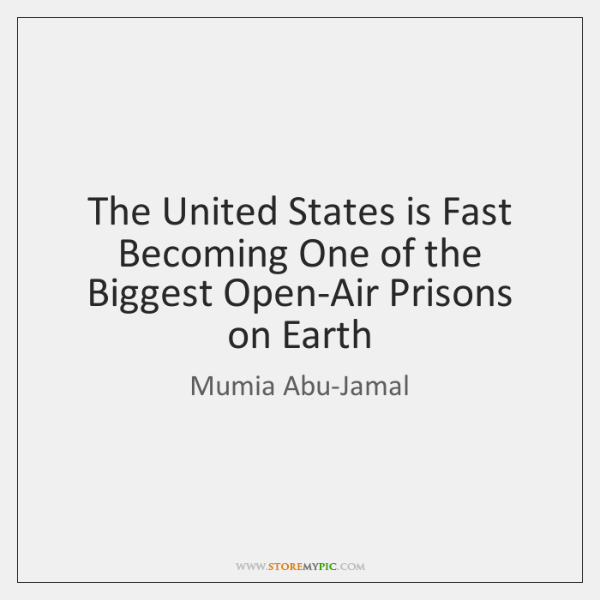 The United States is Fast Becoming One of the Biggest Open-Air Prisons ...