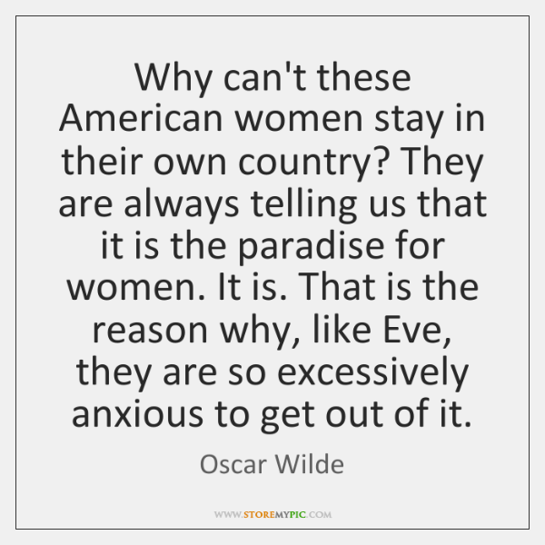 Why can't these American women stay in their own country? They are ...