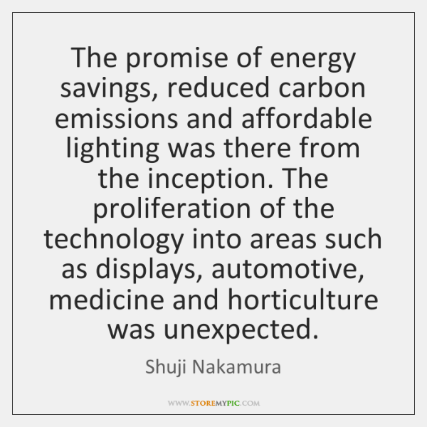 The promise of energy savings, reduced carbon emissions and affordable lighting was ...