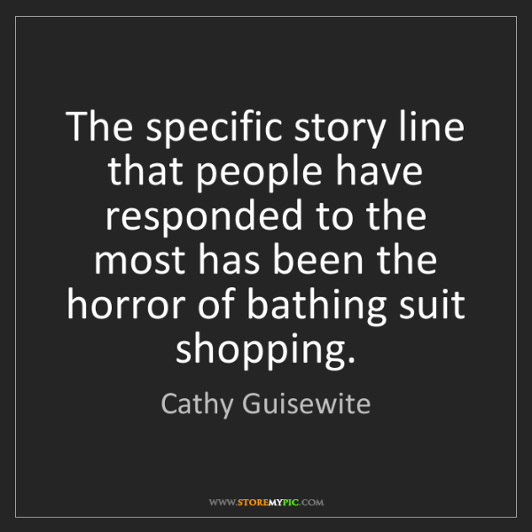 Cathy Guisewite: The specific story line that people have responded to...