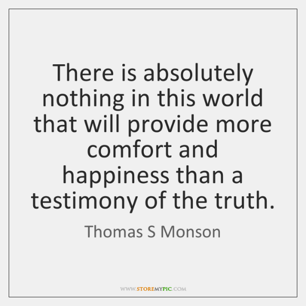 There is absolutely nothing in this world that will provide more comfort ...
