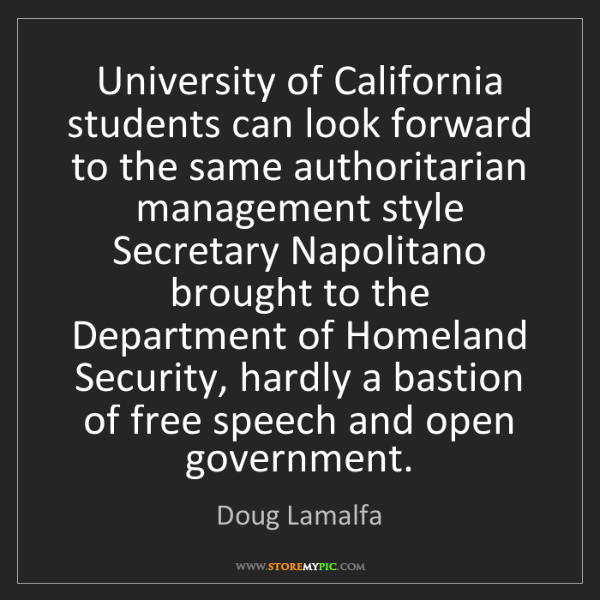 Doug Lamalfa: University of California students can look forward to...