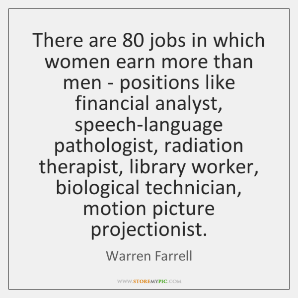 There are 80 jobs in which women earn more than men - positions ...