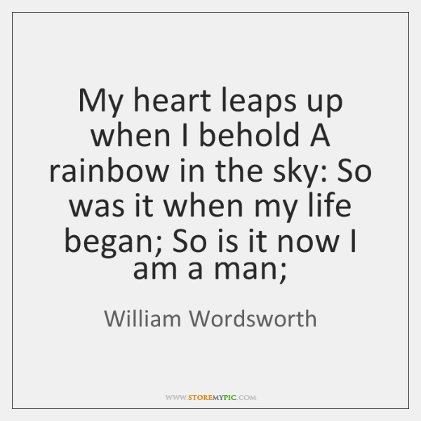 william wordsworth my heart leaps up