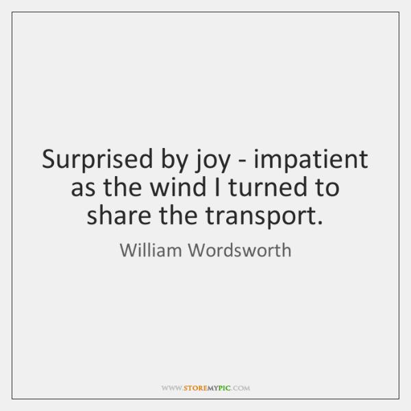 surprised by joy wordsworth
