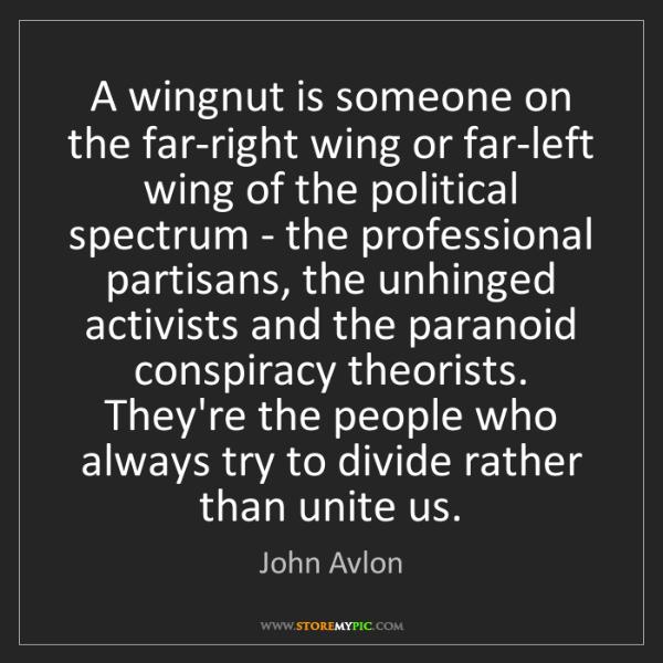 John Avlon: A wingnut is someone on the far-right wing or far-left...