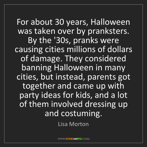 Lisa Morton: For about 30 years, Halloween was taken over by pranksters....