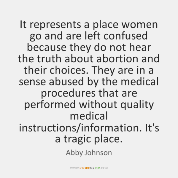 It represents a place women go and are left confused because they ...