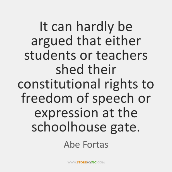 It can hardly be argued that either students or teachers shed their ...