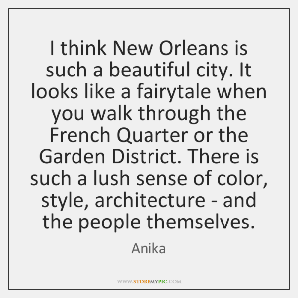 I think New Orleans is such a beautiful city. It looks like ...