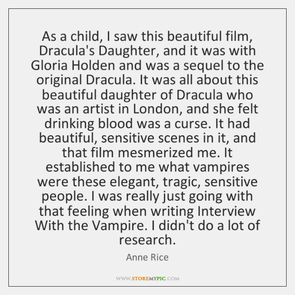 As a child, I saw this beautiful film, Dracula's Daughter, and it ...