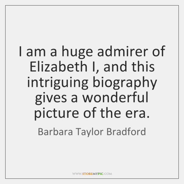 I am a huge admirer of Elizabeth I, and this intriguing biography ...