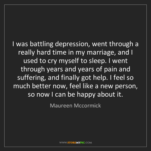 Maureen Mccormick: I was battling depression, went through a really hard...