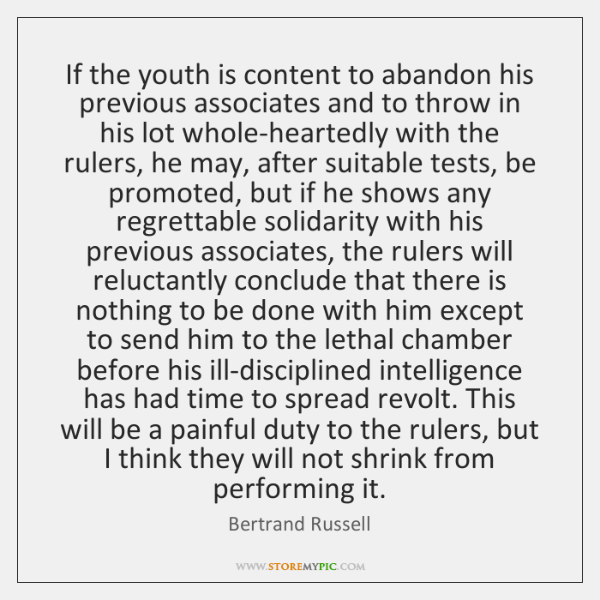 If the youth is content to abandon his previous associates and to ...