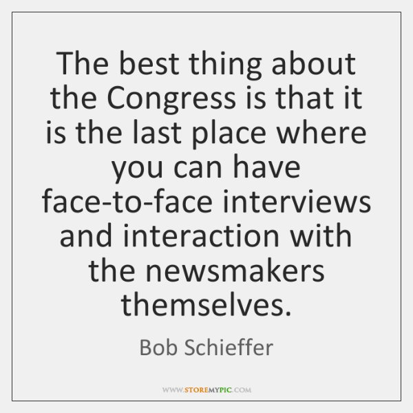 The best thing about the Congress is that it is the last ...