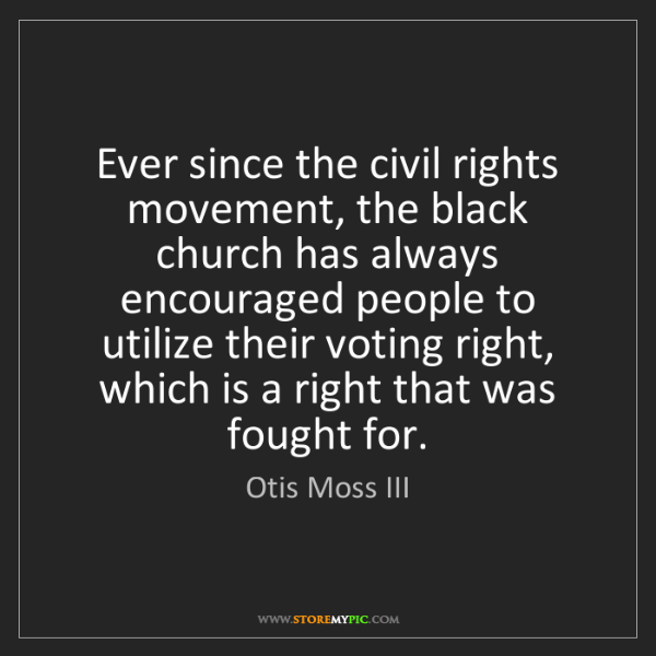 Otis Moss III: Ever since the civil rights movement, the black church...