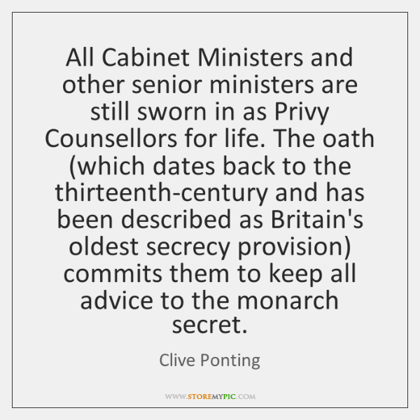 All Cabinet Ministers and other senior ministers are still sworn in as ...