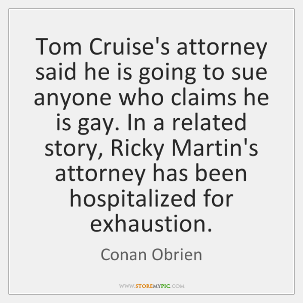 Tom Cruise's attorney said he is going to sue anyone who claims ...