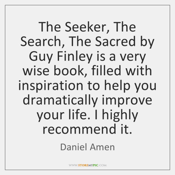 The Seeker, The Search, The Sacred by Guy Finley is a very ...