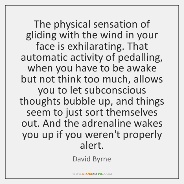 The physical sensation of gliding with the wind in your face is ...