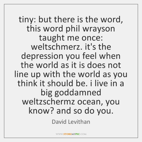 tiny: but there is the word, this word phil wrayson taught me ...