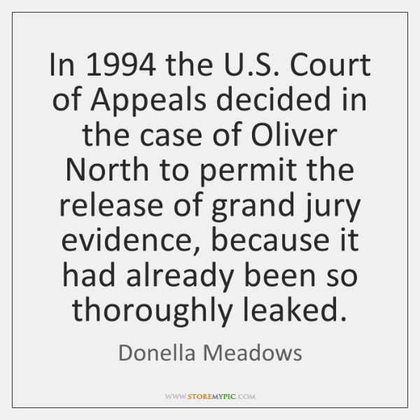 In 1994 the U.S. Court of Appeals decided in the case of ...