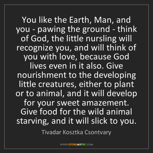 Tivadar Kosztka Csontvary: You like the Earth, Man, and you - pawing the ground...