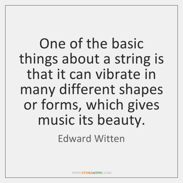 One of the basic things about a string is that it can ...
