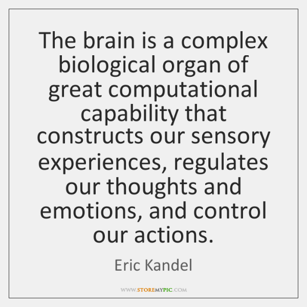 The brain is a complex biological organ of great computational capability that ...