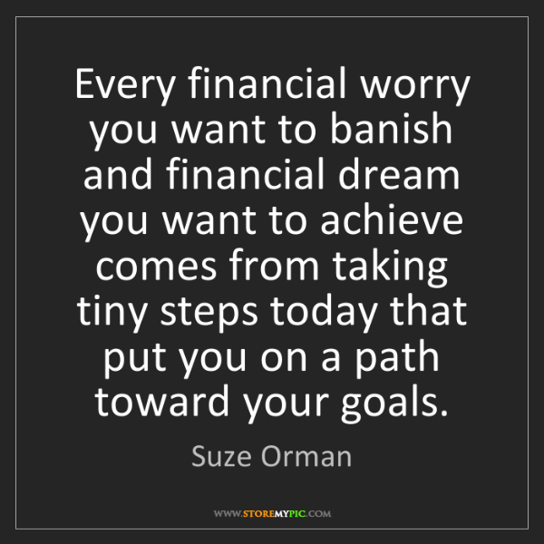 Suze Orman: Every financial worry you want to banish and financial...