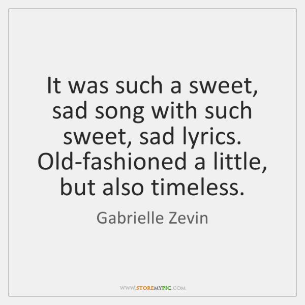 old sad songs lyrics
