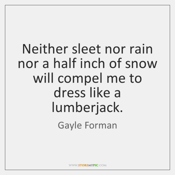 Neither sleet nor rain nor a half inch of snow will compel ...