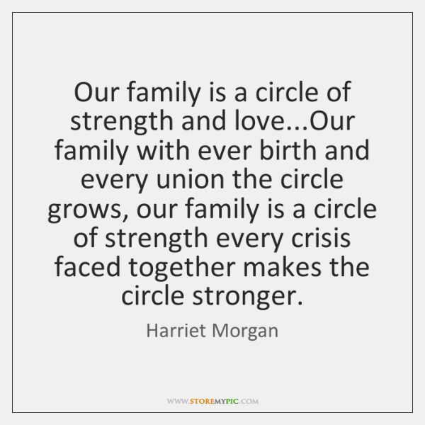 Our Family Is A Circle Of Strength And Loveour Family With