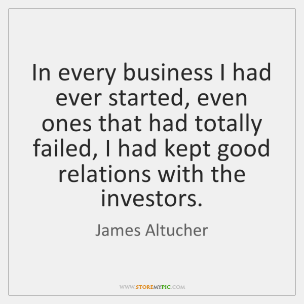 In every business I had ever started, even ones that had totally ...