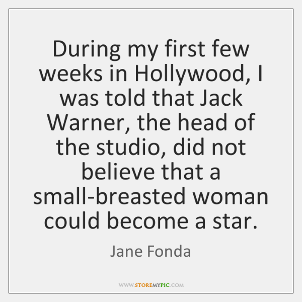 During my first few weeks in Hollywood, I was told that Jack ...