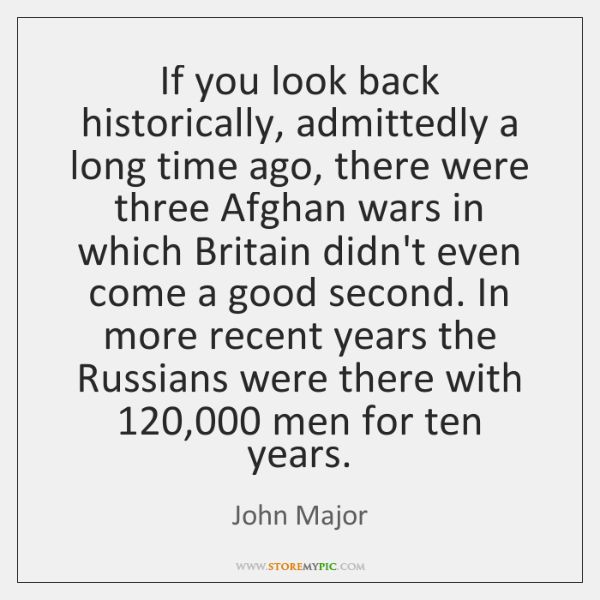 If you look back historically, admittedly a long time ago, there were ...