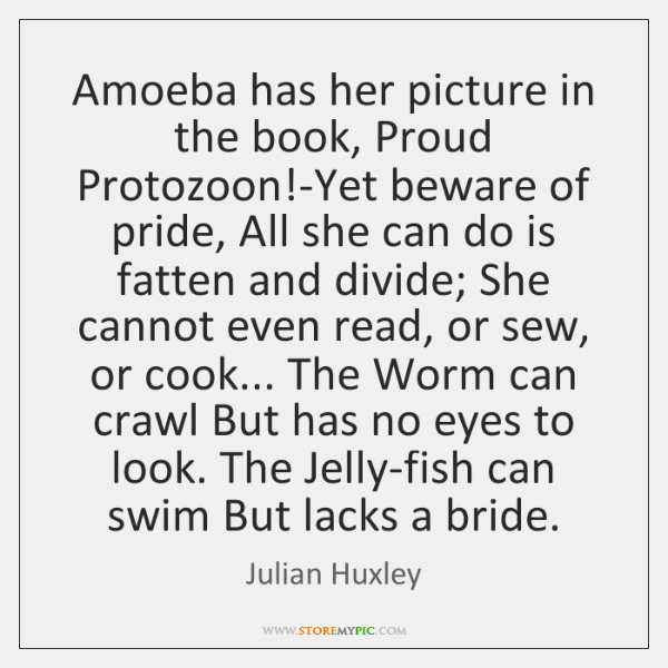 Amoeba has her picture in the book, Proud Protozoon!-Yet beware of ...