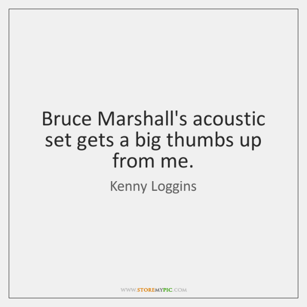 Bruce Marshall's acoustic set gets a big thumbs up from me.