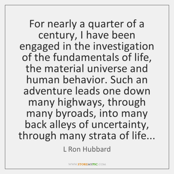 For nearly a quarter of a century, I have been engaged in ...