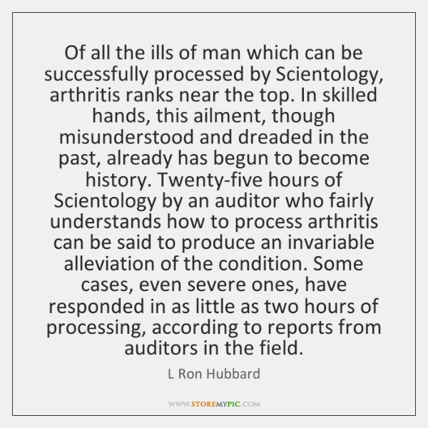 Of all the ills of man which can be successfully processed by ...