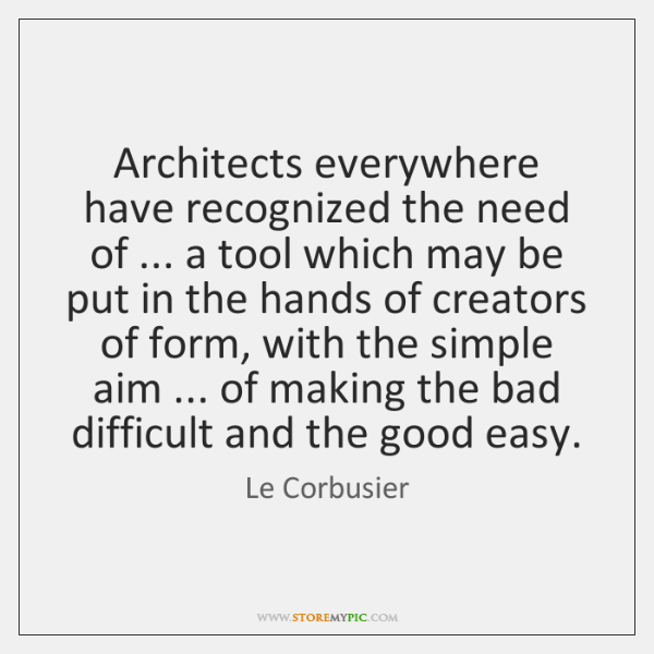 Architects everywhere have recognized the need of ... a tool which may be ...