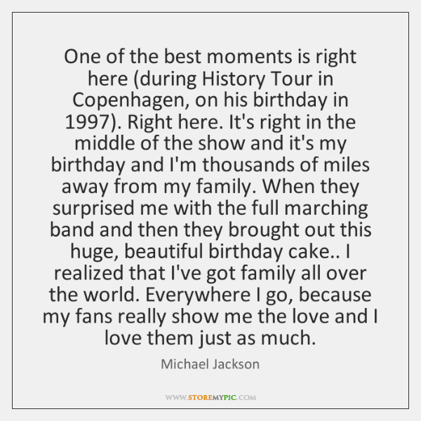 One of the best moments is right here (during History Tour in ...